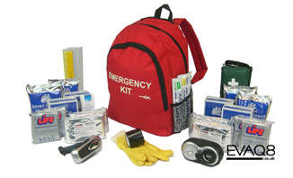 Family Go Bag | Emergency Preparedness supplies to support four persons for 72 hours | Go Bag from EVAQ8.co.uk the UK's Emergency Prepardness specialist