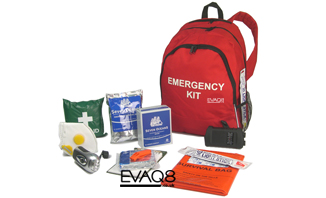 GoBag® Standard Emergency Kit | Emergency Preparedness supplies to support one person for 72 hours | Go Bag from EVAQ8.co.uk the UK's Emergency Prepardness specialist